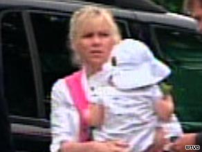 Rielle Hunter is seen arriving at a federal courthouse in Raleigh, North Carolina in 2009.
