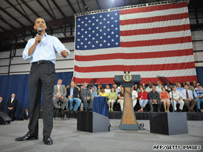 President Obama discusses his health care plans Friday at a meeting in Belgrade, Montana.