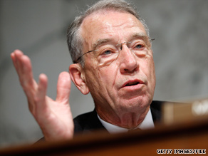 Democrats say Republicans, particularly Iowa Sen. Charles Grassley, aren't serious about striking a deal.