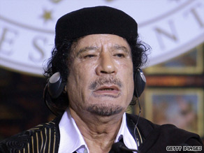 Moammar Gadhafi often takes an ornate tent with him on trips, using it to entertain and hold meetings.