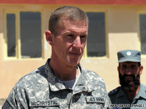 Gen. Stanley McChrystal is the top U.S. commander in Afghanistan.