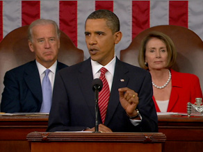 President Obama told a joint session of Congress that the 'time for bickering' over health care is over.