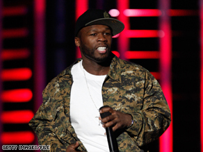 Rapper 50 Cent performs at the Spike TV Video Game Awards in December.