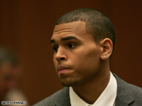 Singer Chris Brown appears in court on Thursday on charges he allegedly assaulted his girlfriend, singer Rihanna.