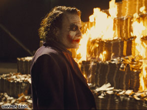 "The late Heath Ledger is expected to win best supporting actor for playing the Joker in ""The Dark Knight."""