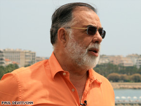 Director Francis Ford Coppola traveled to Cannes to unveil his new film Tetro.