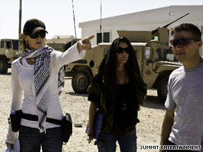 Kathryn Bigelow on the set of Oscar-winning film 'The Hurt Locker'.