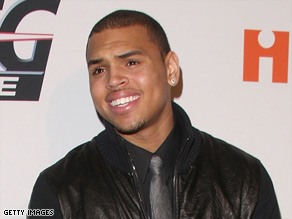 Chris Brown attends a party saluting music producer Clive Davis in Beverly Hills, California, on Saturday.
