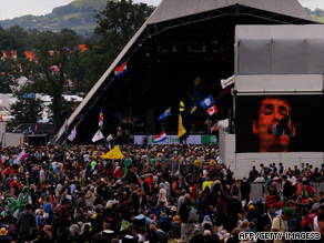 Glastonbury at Worthy Farm in Somerset is the world's largest music festival.