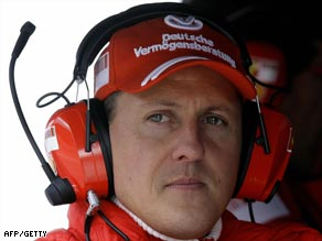 Schumacher watches preparations for the new season at close hand in Barcelona.