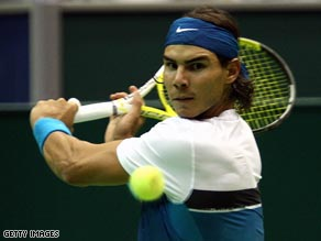 Rafael Nadal was beaten 6-4, 3-6, 7-6 (7/3) by Juan Martin  del Potro.