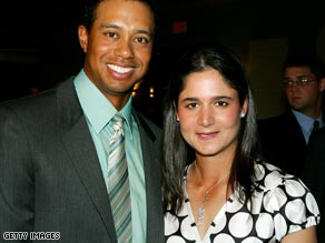 Tiger Woods and Lorena Ochoa pose at the Golf Writer's Association of America Awards in 2007.