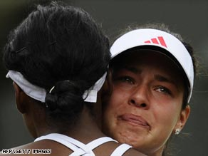 Ivanovic concedes to holder Venus in tearful fashion after suffering injury anguish at Wimbledon