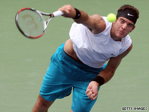 Del Potro served brilliantly in the deciding tiebreaker to retain the Legg Mason title.