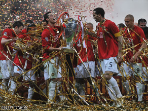 Manchester United, who lifted the trophy last year in Moscow, are chasing a fourth European Cup success.