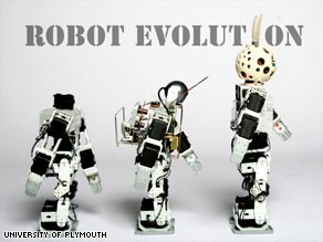 On the way: Robots are developing steadily towards the goal of beating humans at football.