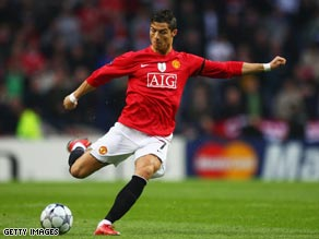 Ronaldo scores in spectacular style as Manchester United reached the Champions League semis.