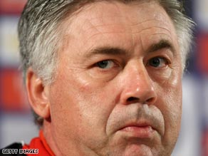 Ancelotti spent eight years in charge at AC Milan, winning one leageu title and two European Cups.