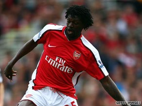 Emmanuel Adebayor spent three and a half years at Arsenal after joining from French club Monaco.
