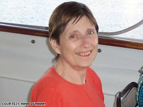 Carole Dunham, 69, had her remains memorialized on an offshore reef.