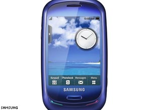 Samsung's Blue Earth handset is made from recycled water bottles.