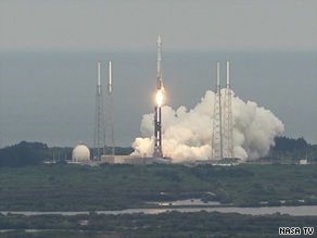 A rocket-propelled lunar orbiter lifts off from Florida's Cape Canaveral Thursday on its way to the moon.