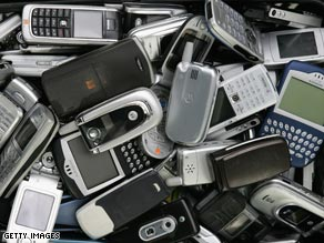 An estimated 1.2 billion cell phones were sold in 2008, at least half of which were replacement handsets.