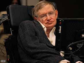 Stephen Hawking in Pasadena, California in March.