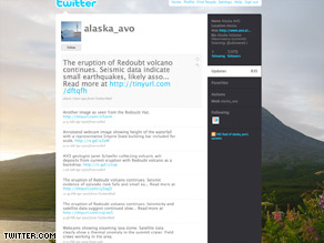More than 7,000 follow Mount Redoubt by the name of Alaska_avo on the social networking site Twitter.com.