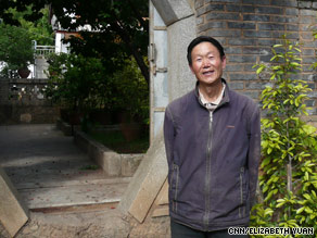 Zhang Chengui was the first to adopt alternative energy in Yunnan's Meiquan Village.