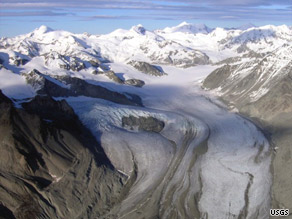 The Gulcana glacier in Alaska is one of three glaciers considered a benchmark by the U.S. Geological Survey.