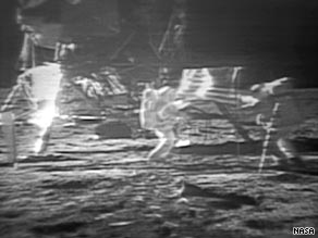 NASA hired a digital restoration firm to improve video showing astronauts taking first steps on the moon.
