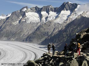 Glaciers in the European Alps may melt as soon as 2050, some scientists say.