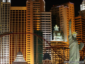 Las Vegas' convention business has been hurt by its image as a lavish destination.