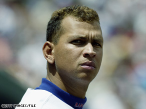 Alex Rodriguez, shown here with the Texas Rangers in 2001, has admitted using steroids.