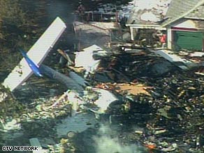 Only a few pieces of the Continental Connection Dash 8 turboprop were recognizable after the crash.