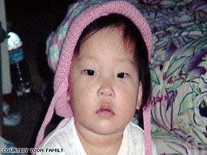 Grace Yoon, 15 months, was killed after a military jet crashed into her home.
