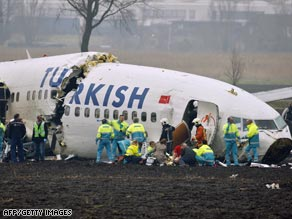 Turkish Airlines Flight 1951 broke into three pieces near Schiphol Airport on February 25.