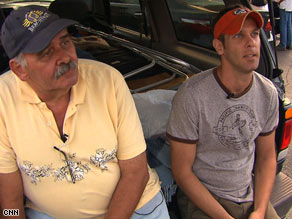 Richard Barboza, left, and John Nilsen are among those struggling in the current economic recession.