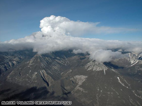 Ash from Alaska's Mount Redoubt volcano has been falling, causing flight cancelations.
