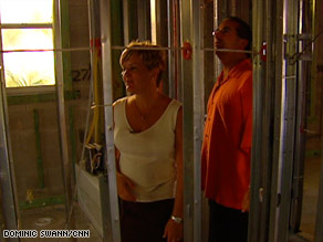 Alana and Joe Consolo tour their Florida house after it was gutted because of concerns about the drywall.