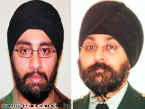 Tejdeep Singh Rattan, left, and Kamaljit Singh Kalsi are set to report for duty in the U.S. Army in July.