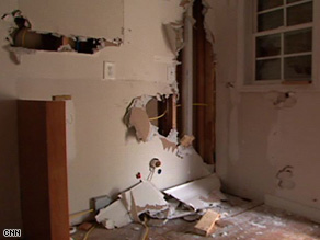 Walls had been ripped open in this foreclosed home in Atlanta, Georgia.