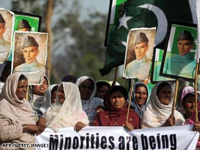 Homeless Pakistani Christians protest last month in Islamabad for protection of Christian minorities.