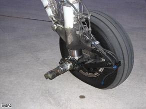 A wheel fell off the landing gear of Q400 Bombardier upon landing on Colgan Flight 3268 earlier this week.