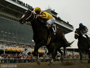 Saturday's victory for Rachel Alexandra, who raced from the 13th and furthest stall, was the filly's fifth straight win.