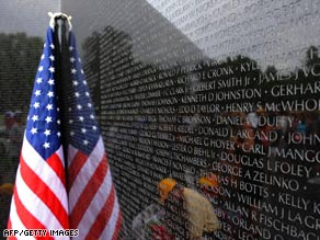 Americans are being asked to take one minute at 3 p.m. Monday to pause and reflect on those who died in battle.