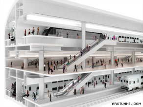 Work on the country's largest mass transit project began Monday.