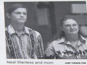 Neal Wanless, winner of the $232 million lottery in South Dakota, shown here in a high school yearbook.