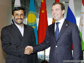 A Tuesday meeting of Mahmoud Ahmadinejad, left, and Dmitry Medvedev has angered Iranian-Americans.